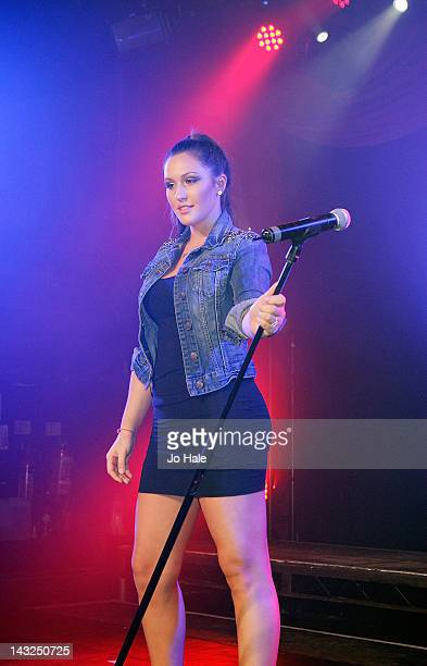 Alyssa Reid performs on stage for club night GAY at Heaven on April 21 2012 in London United Kingdom