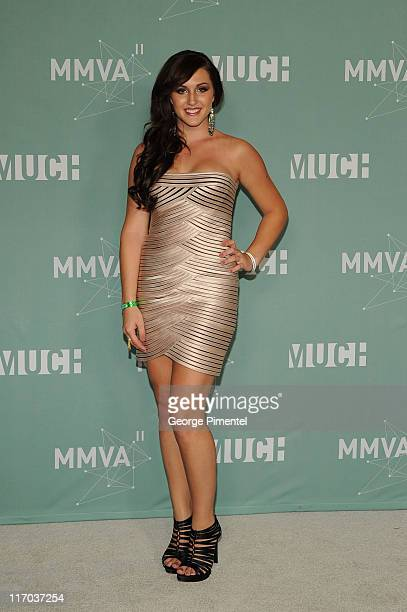 Alyssa Reid poses in the press room at the 22nd Annual MuchMusic Video Awards at the MuchMusic HQ on June 19 2011 in Toronto Canada