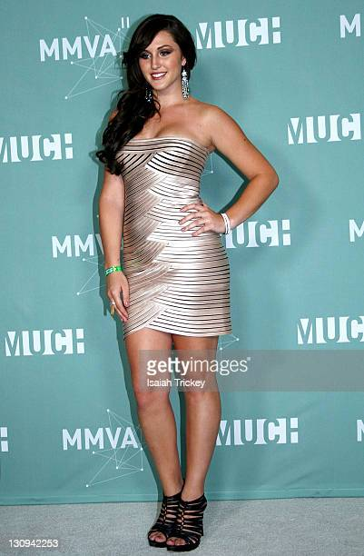Alyssa Reid poses in the press room at the 22nd Annual MuchMusic Video Awards at MuchMusic HQ on June 19 2011 in Toronto Canada