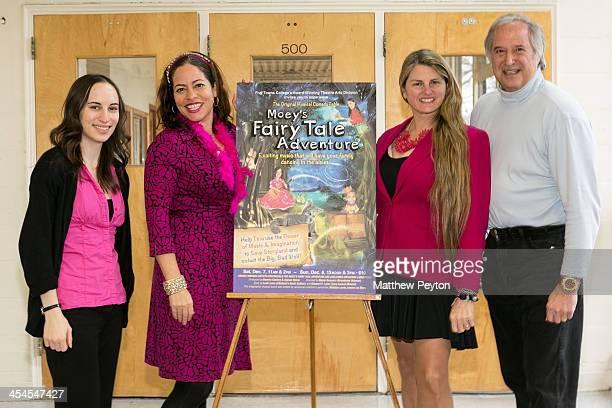 Alyssa Renzi Melissa Levis Bonnie Comley and Stewart F Lane aka 'Mr Broadway' pose together Moey's Fairytale Adventure World Premiere at Dix Hills...
