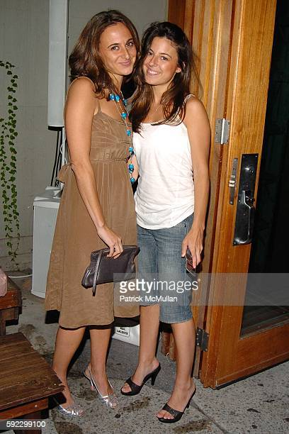 Alyssa Shelasky and Rachel Shelasky attend MAC Cosmetics Hosts Brazilian Fete for Rosa Cha Spring 2006 Collection at The Cabanas at Maritime Hotel on...