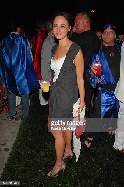 Alyssa Shelasky attends WHO WANTS TO BE A SUPERHERO premiere party at Sir Ivan Wilzig Castle Watermill NY on July 21 2007