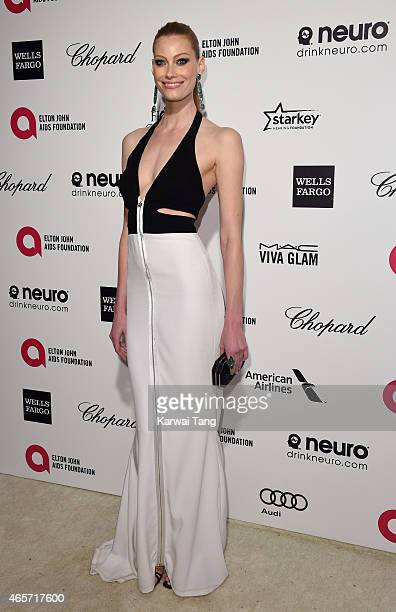 Alyssa Sutherland attends the Elton John AIDS Foundation's 23rd annual Academy Awards Viewing Party at The City of West Hollywood Park on February 22...