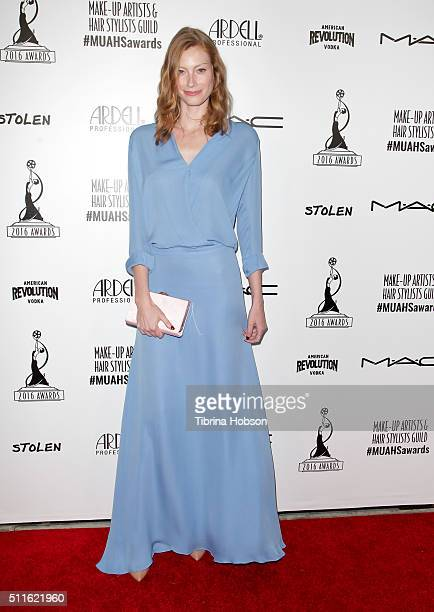 Alyssa Sutherland attends the MakeUp Artists and Hair Stylists Guild Awards at Paramount Studios on February 20 2016 in Hollywood California