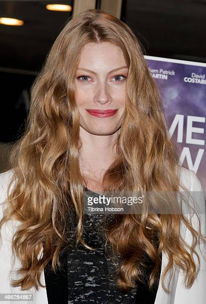 Alyssa Sutherland attends the 'Somewhere Slow' Los Angeles opening night screening at Arena Cinema Hollywood on January 31 2014 in Hollywood...