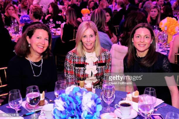 Alyssa Tablada Claire Capello and Debbie Druker attends The Boys' Club of New York Ninth Annual Winter Luncheon on February 26 2018 in New York City