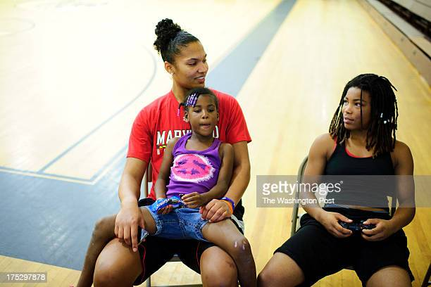 Alyssa Thomas a basketball player for The University of Maryland where she will be a senior this year talks with Briel Palmer right as Bre Palmer...