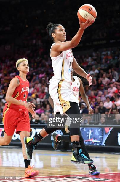 Alyssa Thomas of Team Delle Donne drives to the basket against Team Wilson during the WNBA All-Star Game 2019 at the Mandalay Bay Events Center on...
