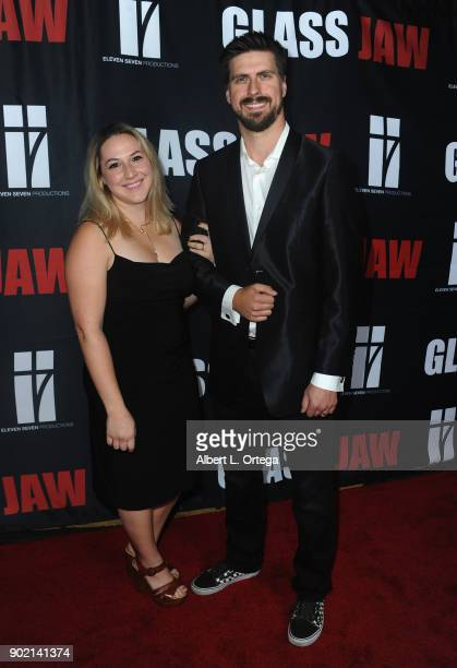 Alyssa Ulrich and Michael Wigle arrive for the premiere of 'Glass Jaw' held at Universal Studios Hollywood on November 9 2017 in Universal City...