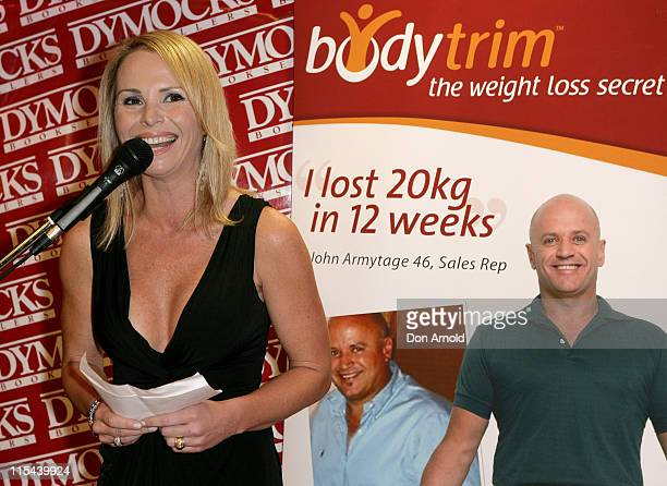 AlyssaJane Cook addresses the media as she is announced as the new face of weight loss program Bodytrim at Dymocks on George Street on July 3 2008 in...