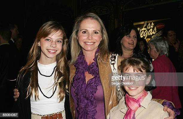 AlyssaJane Cook and her children Georgia May and Ruby May arrive for the Olivia NewtonJohn fundraising gala event at the State Theatre on September...
