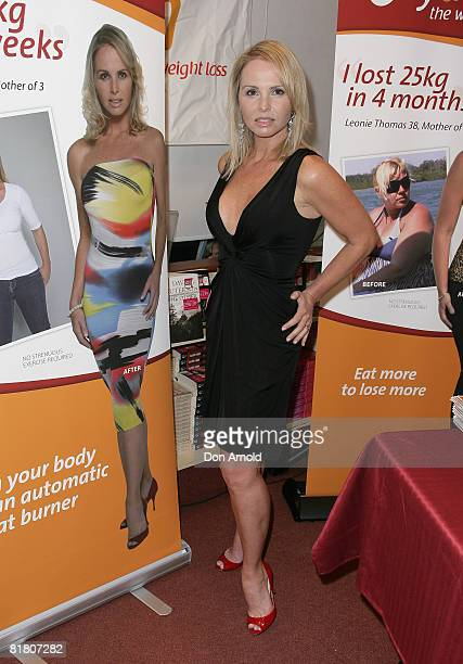 AlyssaJane Cook poses as she is announced as the new face of weight loss program Bodytrim at Dymocks on George Street on July 3 2008 in Sydney...