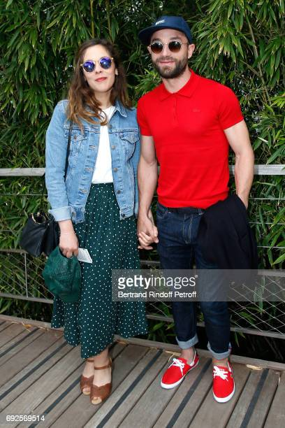 Alysson Paradis and Guilaume Gouix attend the 2017 French Tennis Open Day Height at Roland Garros on June 4 2017 in Paris France