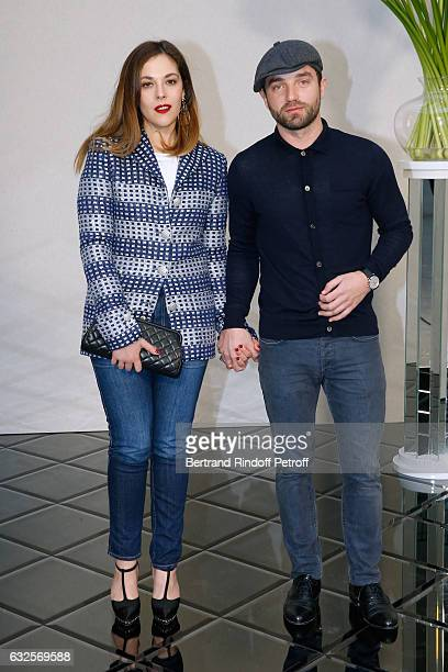Alysson Paradis and Guilaume Gouix attend the Chanel Haute Couture Spring Summer 2017 show as part of Paris Fashion Week on January 24 2017 in Paris...