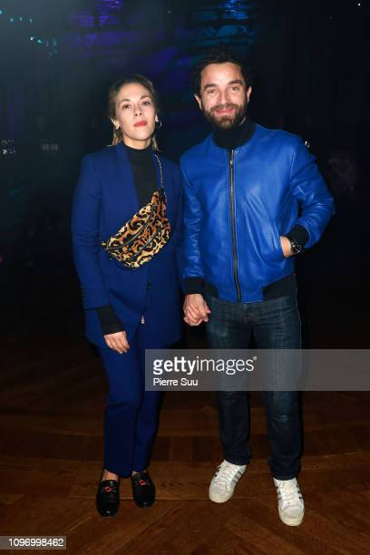 Alysson Paradis and Guillaume Bouix attend the Paul Smith Menswear Fall/Winter 20192020 show as part of Paris Fashion Week on January 20 2019 in...