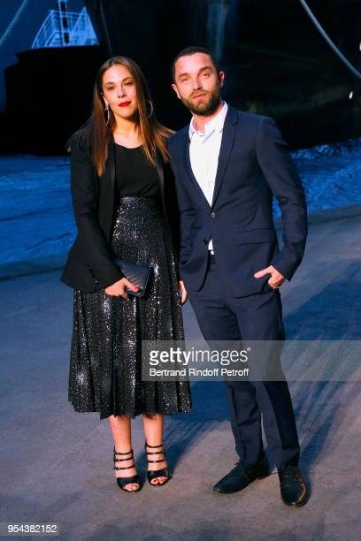 Alysson Paradis and Guillaume Gouix attend the Chanel Cruise 2018/2019 Collection Photocall at Le Grand Palais on May 3 2018 in Paris France