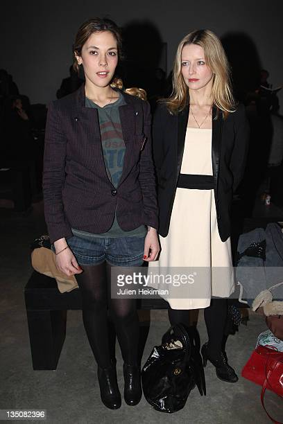 Alysson Paradis and Laure Marsac attend the Vanessa Bruno Ready to Wear Autumn/Winter 2011/2012 show during Paris Fashion Week at Palais De Tokyo on...
