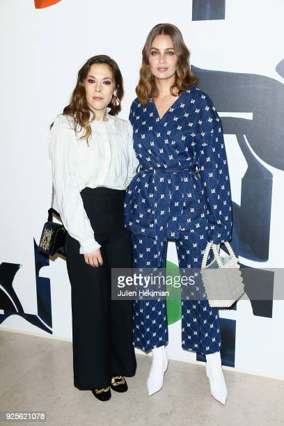 Alysson Paradis and Marie Ange Casta attend the HM show as part of the Paris Fashion Week Womenswear Fall/Winter 2018/2019 on February 28 2018 in...