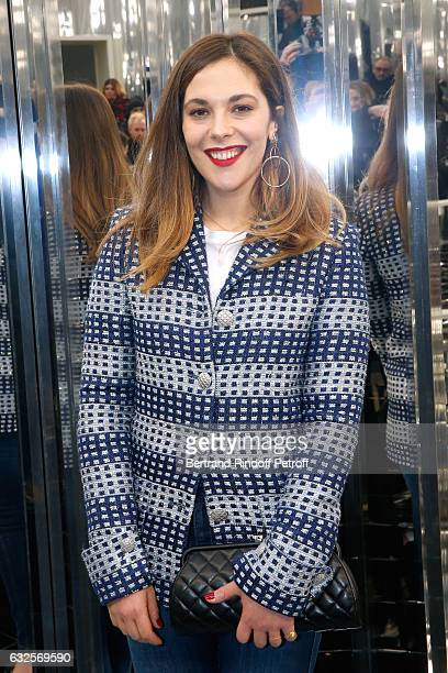 Alysson Paradis attends the Chanel Haute Couture Spring Summer 2017 show as part of Paris Fashion Week on January 24 2017 in Paris France