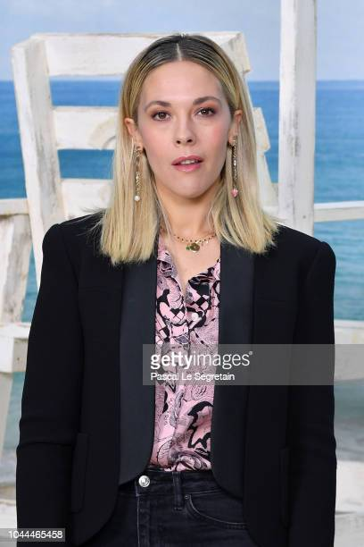Alysson Paradis attends the Chanel show as part of the Paris Fashion Week Womenswear Spring/Summer 2019 on October 2 2018 in Paris France