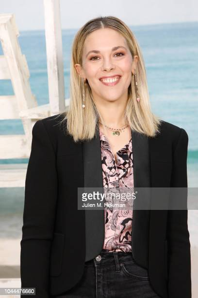 Alysson Paradis attends the Chanel show at Le Grand Palais as part of Paris Fashion Week Womenswear on October 2 2018 in Paris France