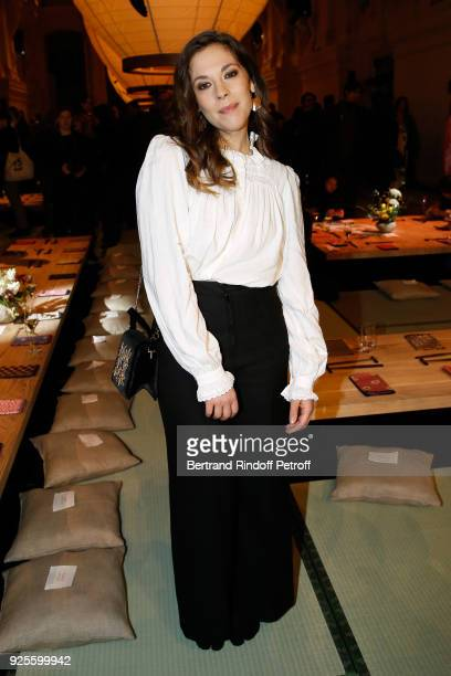 Alysson Paradis attends the HM show as part of the Paris Fashion Week Womenswear Fall/Winter 2018/2019 on February 28 2018 in Paris France