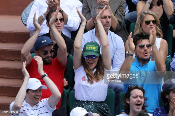 Alysson ParadisGuillaume Gouix and Vincent Niclo are spotted at Roland Garros on June 5 2017 in Paris France