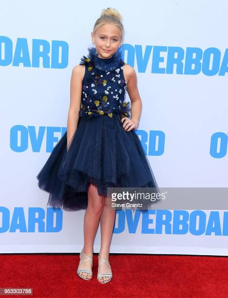 Alyvia Alyn Lind arrives at the Premiere Of Lionsgate And Pantelion Film's Overboard at Regency Village Theatre on April 30 2018 in Westwood...