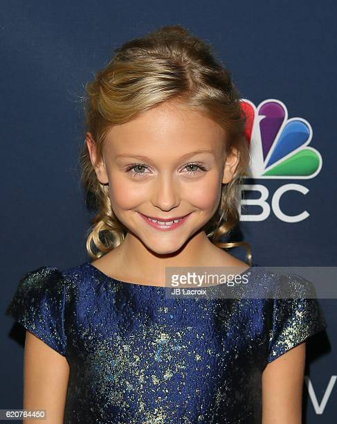 Alyvia Alyn Lind attends the 'NBC and Vanity Fair toast the 20162017 TV Season' at NeueHouse Hollywood on November 2 2016 in Los Angeles California
