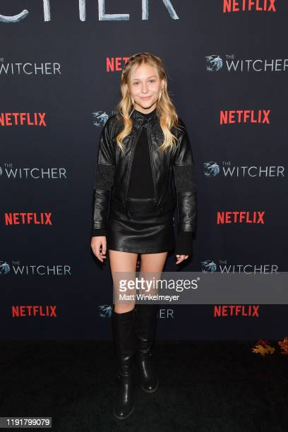 Alyvia Alyn Lind attends the photocall for Netflix's The Witcher season 1 at the Egyptian Theatre on December 03 2019 in Hollywood California
