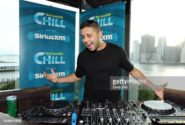 Alyx Ander attends as Kaskade performs live on SiriusXM's Chill channel from the 1 Hotel on July 31 2018 in Brooklyn