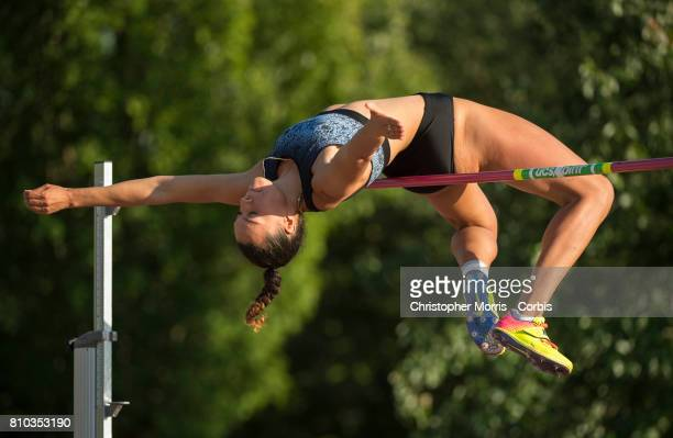 Alyx Teasure of Canada competing in the women's high jump at Percy Perry Stadium on June 28 2017 in Coquitlam Canada Alyx Treasure