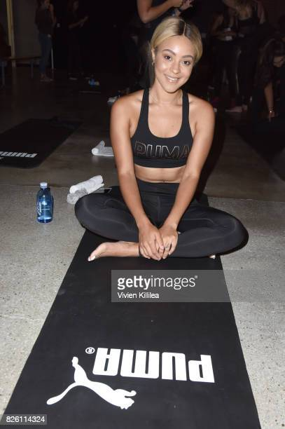 Alyxx Dione attends PUMA Hosts CAMP PUMA To Launch Their Newest Women's Collection Velvet Rope at Goya Studios on August 3 2017 in Los Angeles...