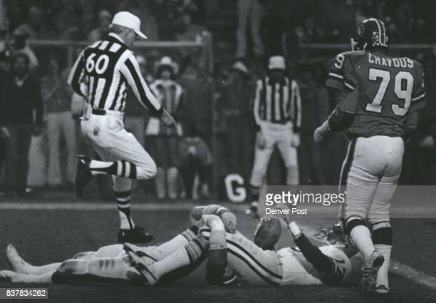 Alzado sacks whitehurst in the end zone for a 4th qtr safety Credit Denver Post