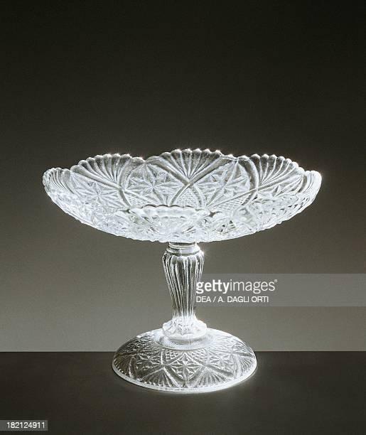 Alzata molded glass bowl, 1910-1919, Italy, 20th century.