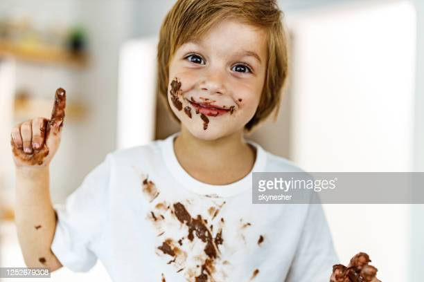i am a little bit messy! - chocolate stock pictures, royalty-free photos & images