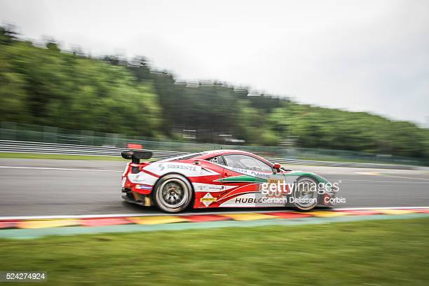 Am class AF Corse Ferrari F458 Italia of Peter Mann / Raffaele Giammaria and Lorenzo Case in action during Free Practice 2 of Round 2 of the 2014 FIA...