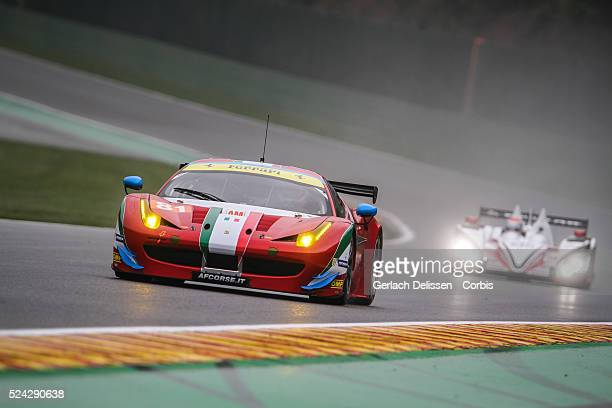 Am Class AF Corse Ferrari F458 Italia of stephen Wyatt / Michele Rugolo / Andrea Bertolini in action during free practice 1 of Round 2 of the 2014...
