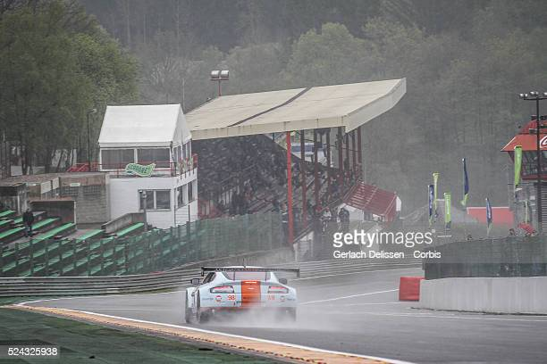 Am class Aston Martin Racing Aston Martin Vantage V8 of Paul Dalla Lana / Pedro Lamy / Christoffer Nygaard in action during Free Practice 1 of Round...
