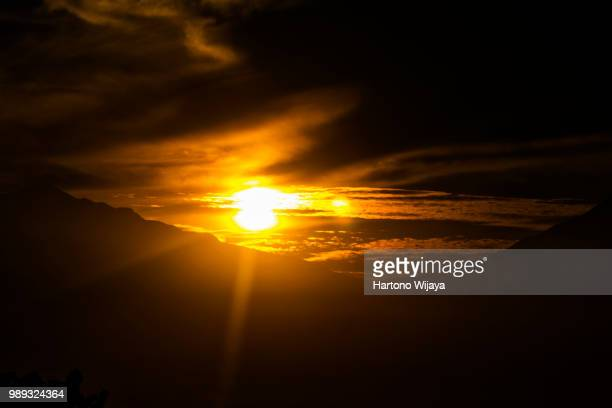 5.00 am from merbabu and merapi mountains - utc−10:00 stock pictures, royalty-free photos & images