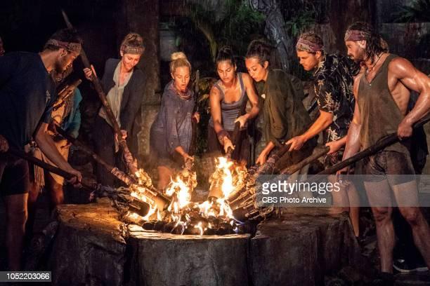 'I Am Goliath Strong' Dan Rengering Alison Raybould Kara Kay Natalia Azoqa Angelina Keeley Alec Merlino and John Hennigan at Tribal Council on the...