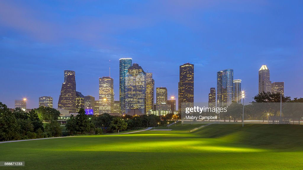 I Am Houston Skyline : Stock Photo