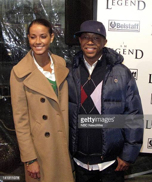 "Am Legend"" Premiere -- Pictured: Model Porschla Coleman and Russell Simmons attend the premiere of ""I Am Legend"" at the WaMu Theater at Madison..."