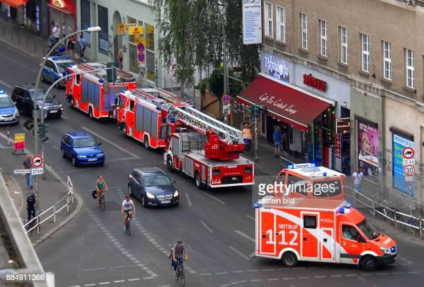 Am Montag, gegen 17Uhr30 rueckte die Feuerwehr zum KitKat-Club in der Brueckenstrasse an. Fehlalarm.