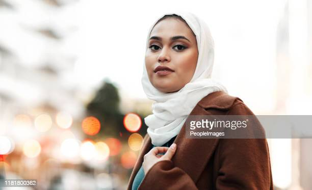 i am proud to be muslim - headscarf stock pictures, royalty-free photos & images