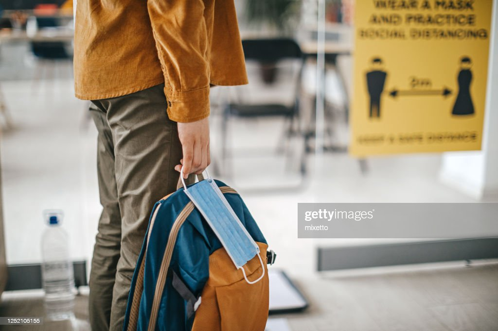 I am ready for class : Stock Photo