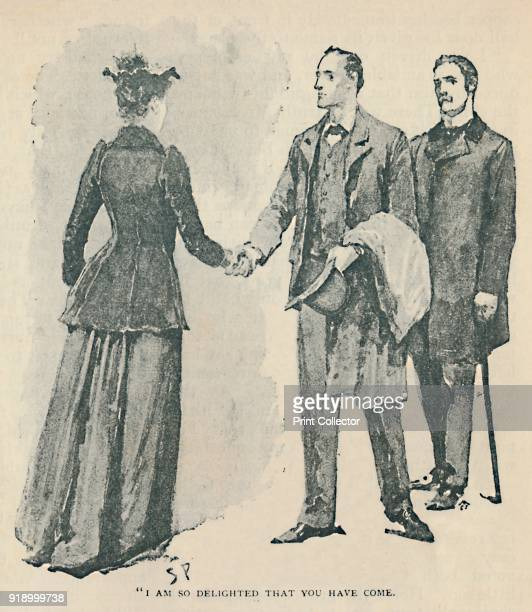 I Am So Delighted That You Have Come' 1892 Illustration from 'The Adventure of the Copper Beeches' by Arthur Conan Doyle From The Strand Magazine An...