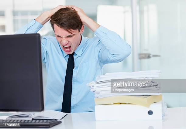 i am so stressed out! - pulling hair stock photos and pictures