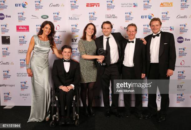 Am Team GB The Nation's Biggest Sports Day pose with the Participation Event of the Year award in association with Miller with Annabel Croft and...