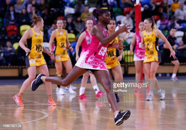 Ama Agbeze of London Pulse during Vitality Netball Super League Round 3 match between London Pulse and Wasps Netball at Copper Box Arena, London ,...